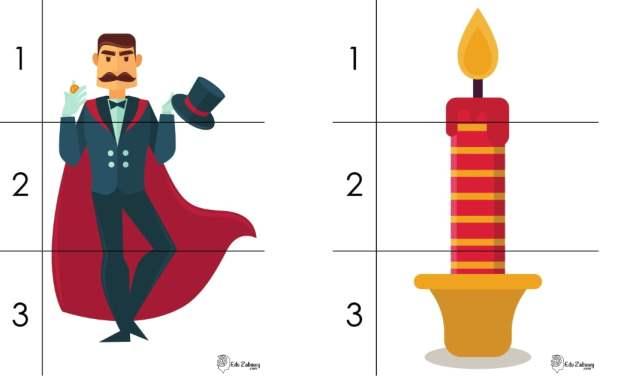 Andrzejki: Puzzle 3 elementy (10 kart pracy)