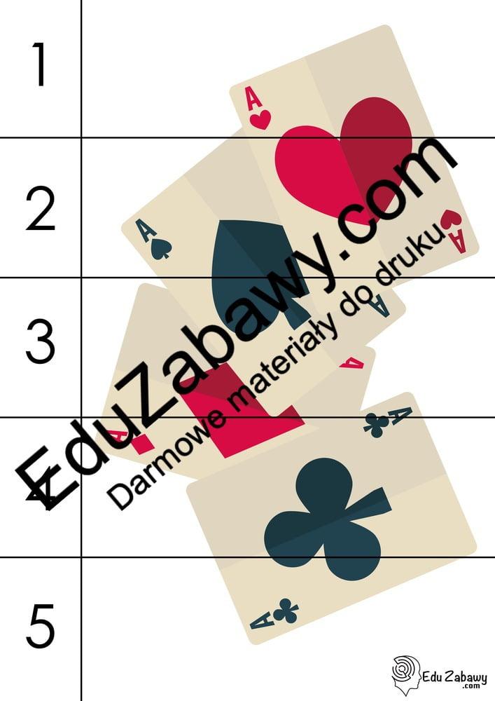 Andrzejki: Puzzle 5 elementów (10 kart pracy) Andrzejki Karty pracy Karty pracy (Andrzejki) Puzzle