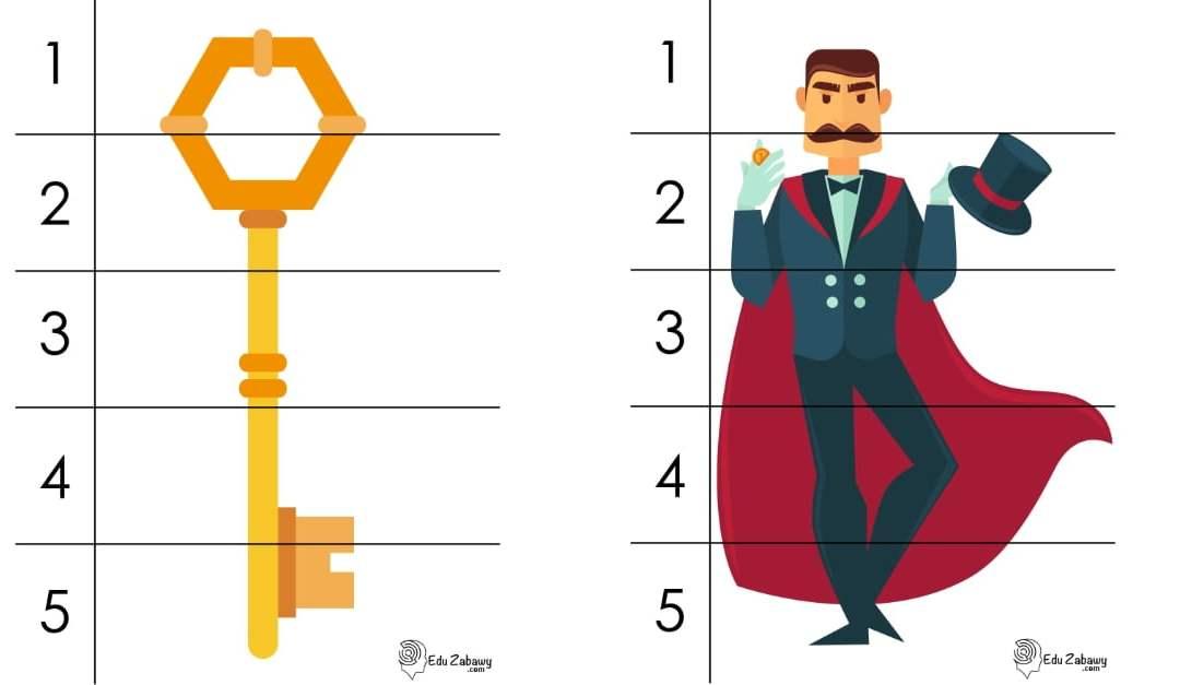 Andrzejki: Puzzle 5 elementów (10 kart pracy)