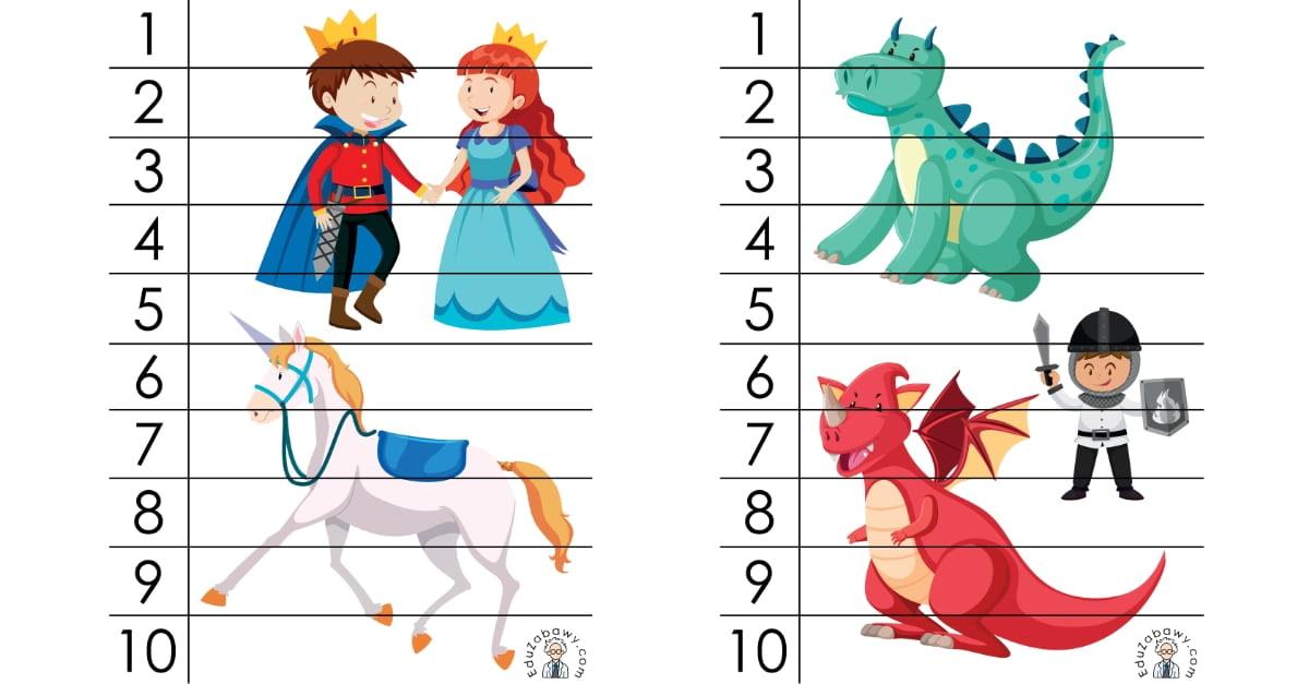 Dzień postaci z bajek: Puzzle 10 elementów