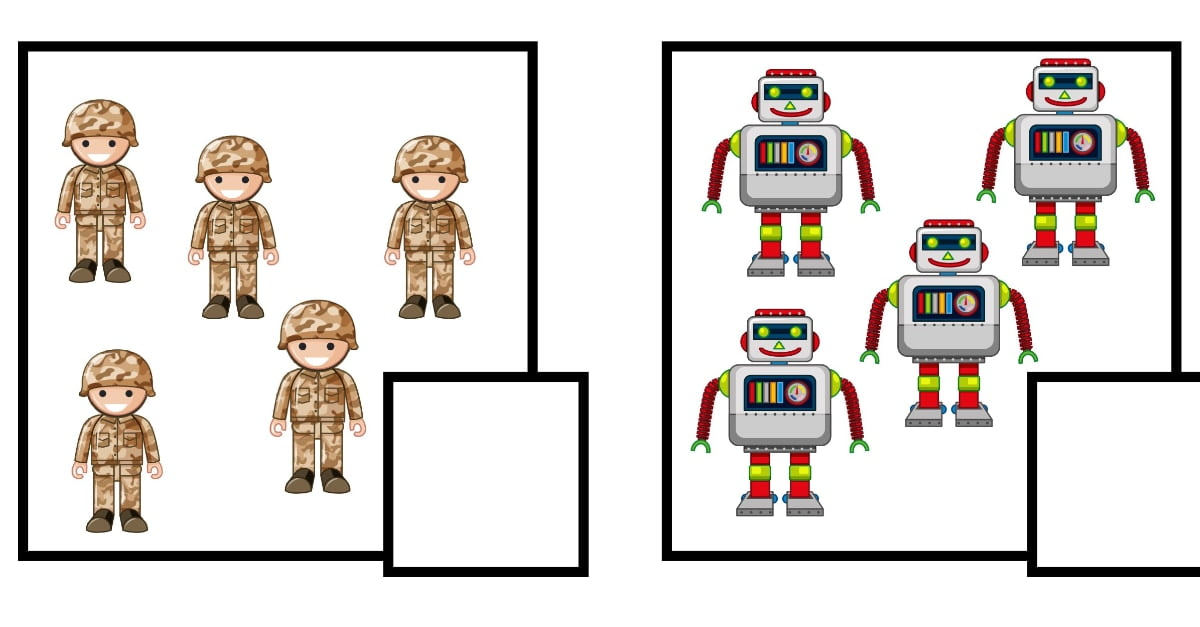 Dzień Chłopaka: Policz obrazki (10 kart pracy)