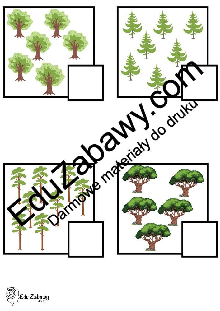 Dzień Drzewa: Policz obrazki (10 kart pracy) Dzień Drzewa Karty pracy Karty pracy (Dzień drzewa) Policz obrazki