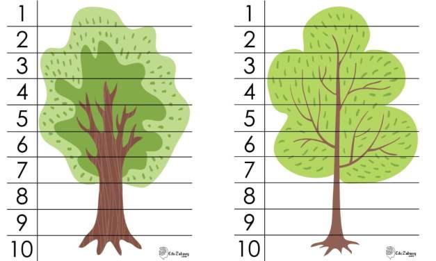 Dzień Drzewa: Puzzle 10 elementów (10 kart pracy)