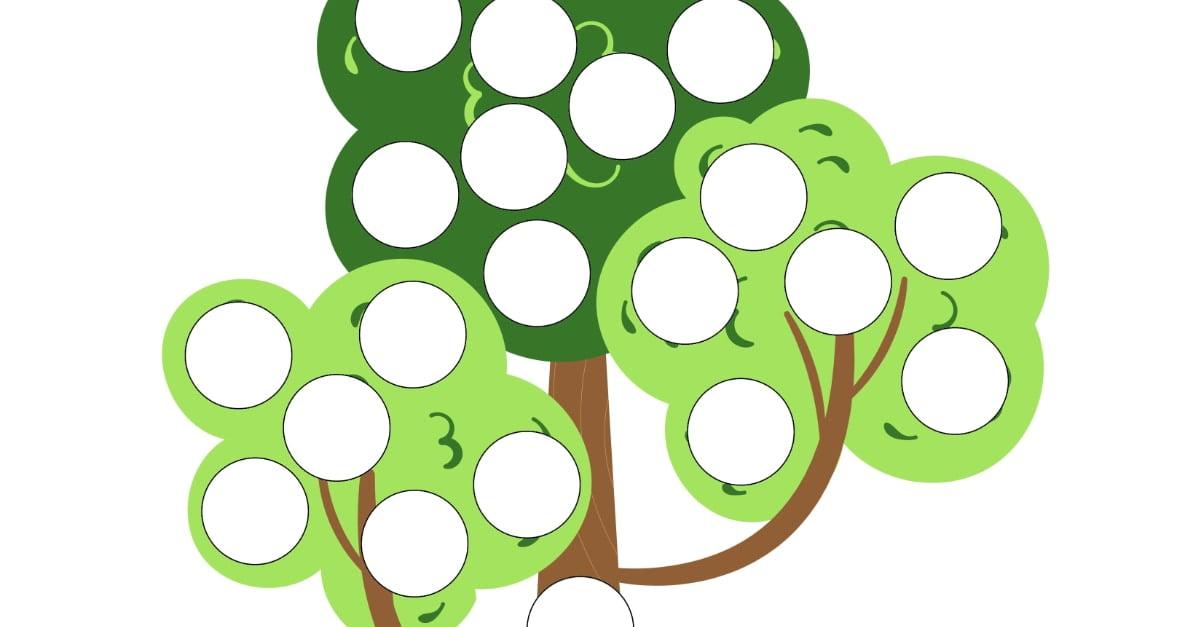 Dzień Drzewa: Wypełnij kolorem (10 kart pracy)
