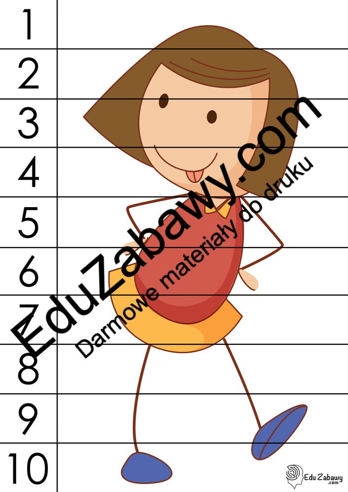 Dzień Dziewczynek: Puzzle 10 elementów (10 kart pracy) Dzień Dziewczynek Karty pracy Karty pracy (Dzień Dziewczynek) Puzzle