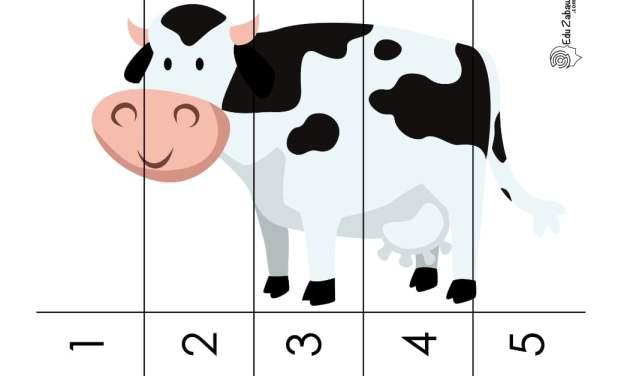 Dzień Zwierząt: Puzzle 5 elementów (10 kart pracy)
