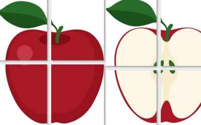 Dekoracje XXL: Jabłka (10 szablonów)