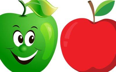 Dekoracje: Jabłka (10 szablonów)