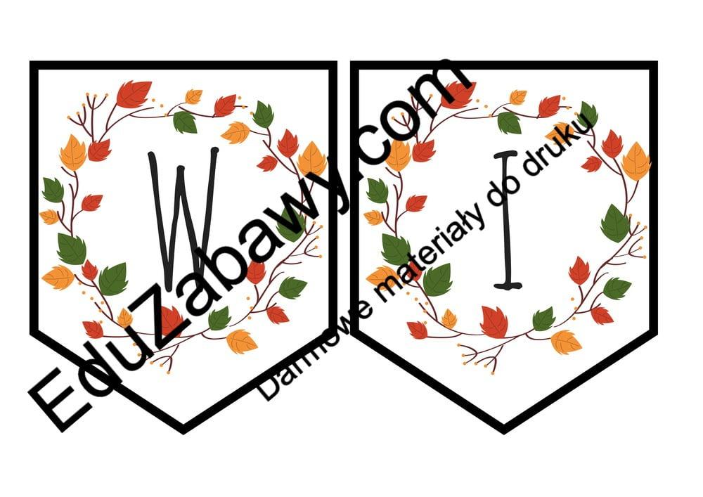 """Baner jesienny """"Witamy w przedszkolu"""" Anna Czerwiec Girlanda / baner Jesień Pomoce dydaktyczne Powitanie przedszkola"""
