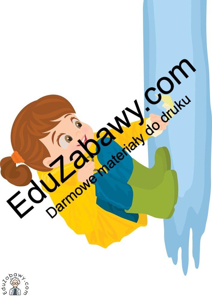 Dekoracje: Dzieci w kałuży (7 szablonów) Dekoracje Dekoracje (Dzień Dziecka) Dekoracje (Jesień)