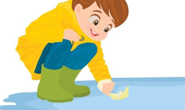 Dekoracje: Dzieci w kałuży (7 szablonów)