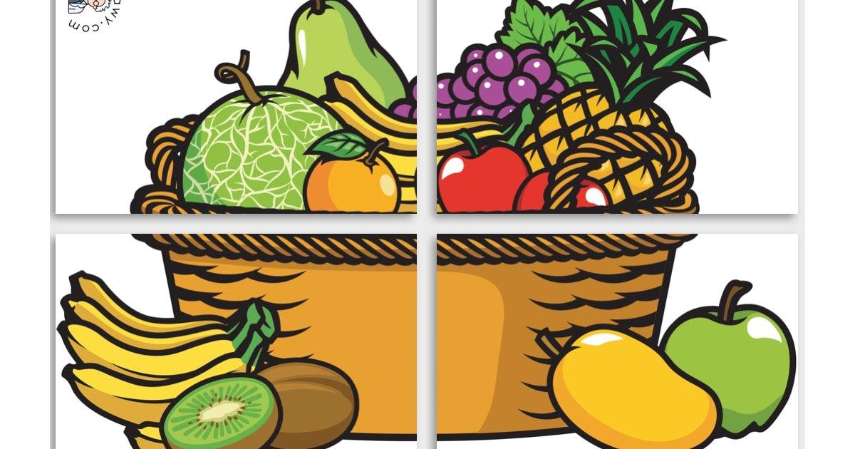 Dekoracje XXL: Koszyk z owocami i warzywami (7 szablonów)