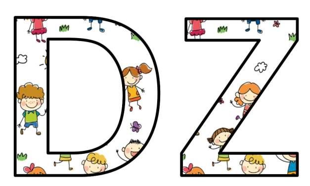Napis Dzień Przedszkolaka: wzór z dziećmi