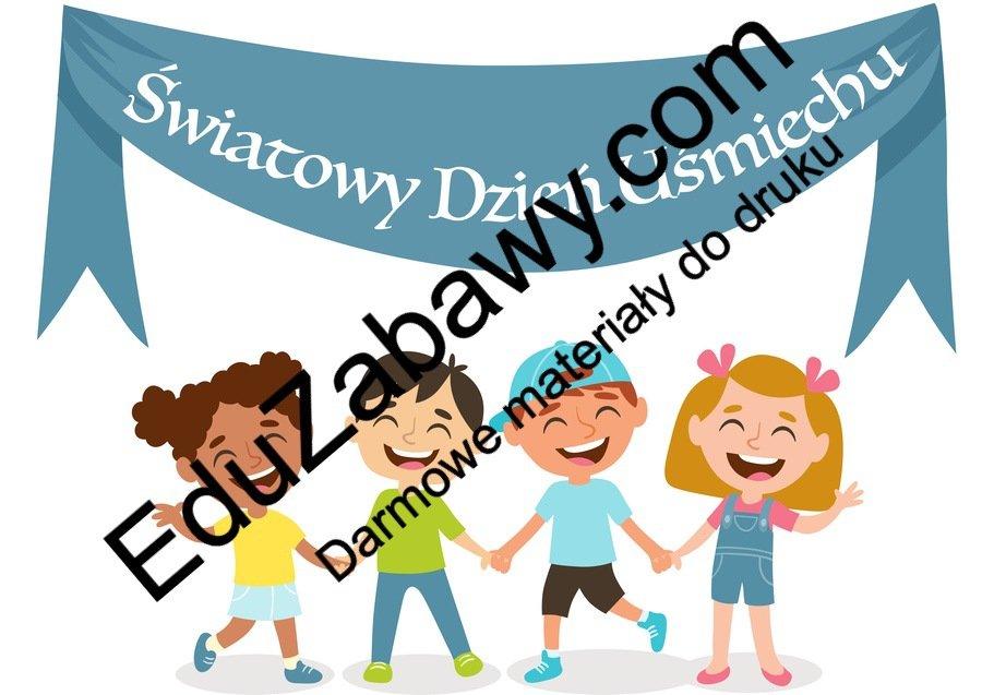 Dzień Uśmiechu: Plakaty Dzień Pozytywnego Myślenia Dzień Szczęścia Dzień Uśmiechu Październik Święta i pory roku