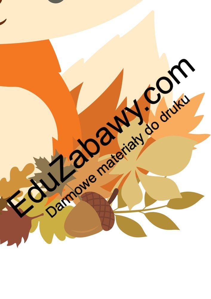 Dekoracje XXL: Liski (10 szablonów) Dekoracje Dekoracje (Dzień Zwierząt) Dekoracje (Jesień)