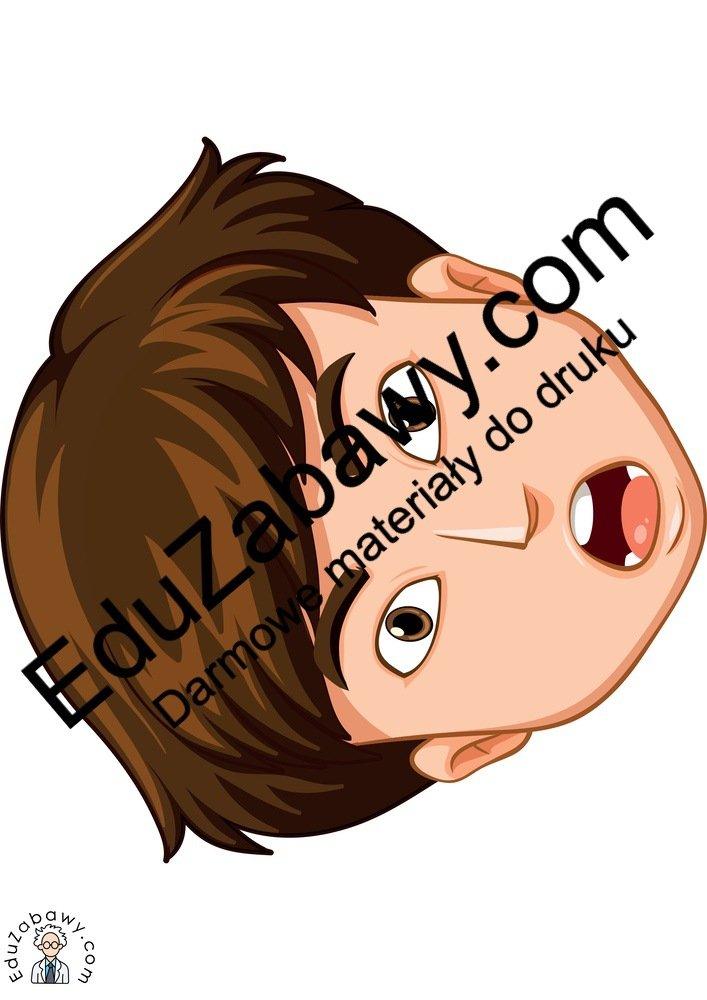 Dekoracje: Emocje - chłopak (9 szablonów) Dekoracje Dzień Uśmiechu