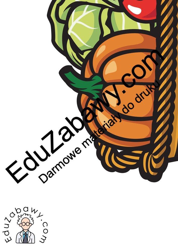 Dekoracje XXL: Koszyk z owocami i warzywami (7 szablonów) Dekoracje Dekoracje (Dzień Marchewki) Dekoracje (Jesień)