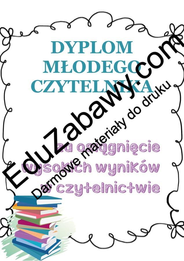 Dyplomy młodego czytelnika (pionowe) Dyplomy Dyplomy (Zakończenie roku)