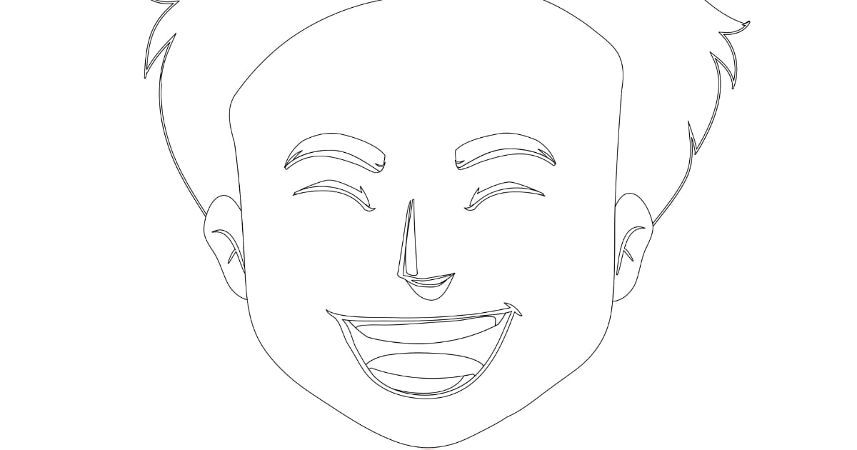 Kolorowanki: Emocje – chłopak (9 szablonów)