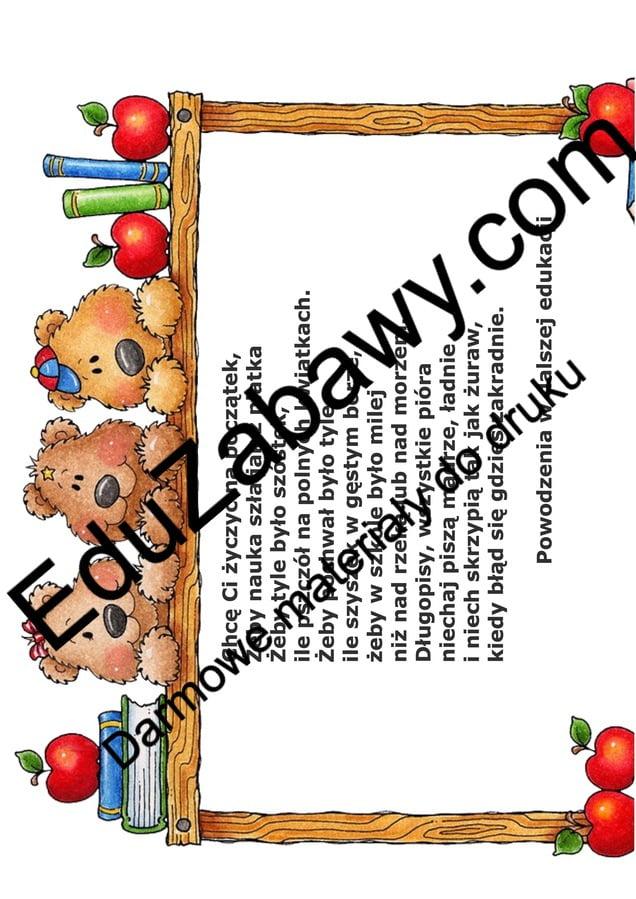 Wkładki i dedykacje na zakończenie roku dla przedszkolaków Okolicznościowe Wkładki i dedykacje Wkładki i dedykacje (Pożegnanie przedszkola)