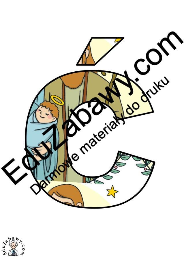 Litery duże: wzór Dzieciątko Jezus Dzieciątko Jezus (litery i cyfry) Litery i cyfry do tworzenia napisów Religia (litery i cyfry)