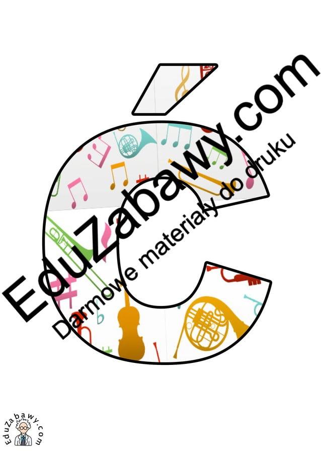 Instrumenty muzyczne: Litery Duże Litery i cyfry do tworzenia napisów Muzyka (litery i cyfry)