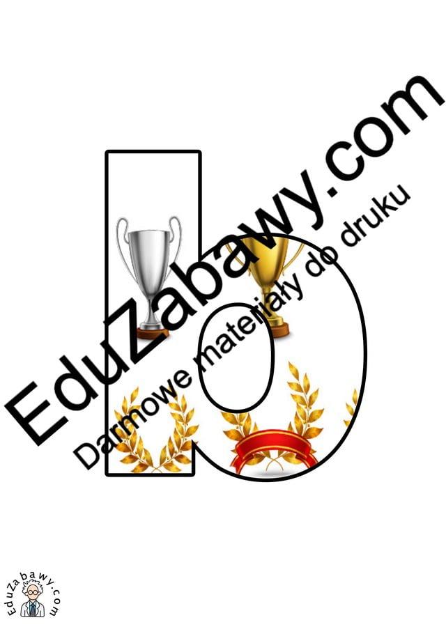 Trofea: litery małe Litery i cyfry do tworzenia napisów Sport (litery i cyfry)