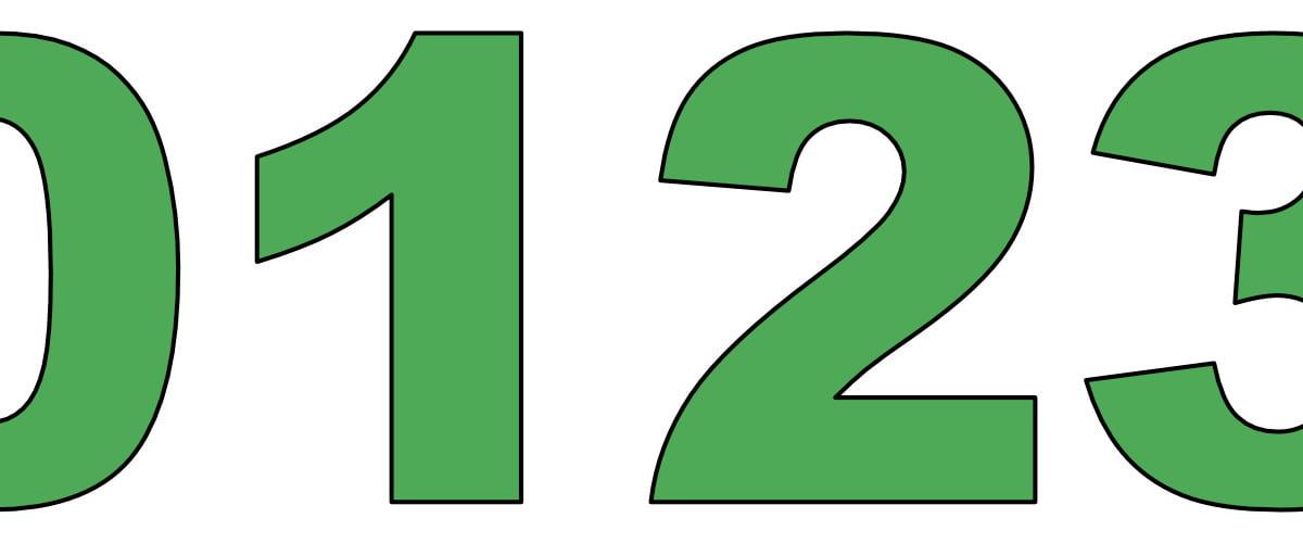 Zielone cyfry