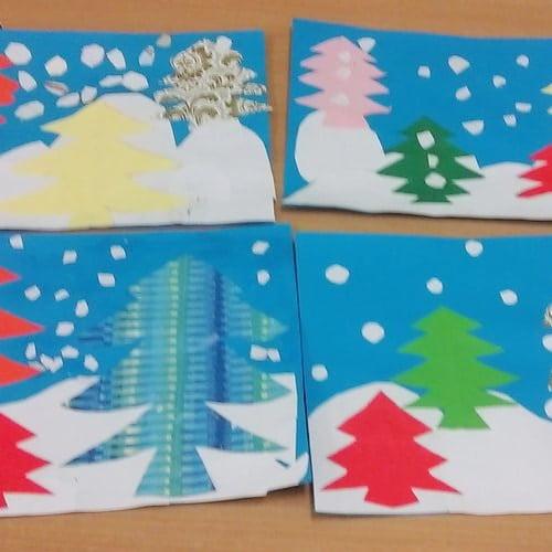 Zima: Wypełnij kolorem (10 kart pracy) Karty pracy (Zima) Zima