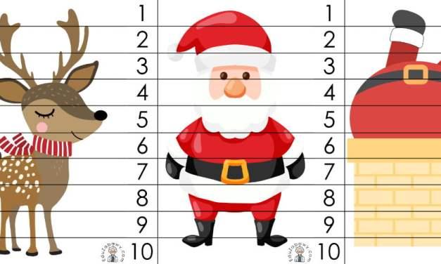 Boże Narodzenie: Puzzle 10 elementów (10 szablonów)