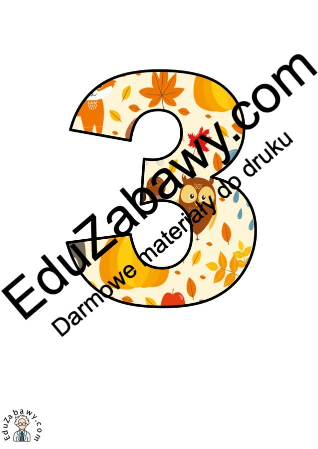 Dary jesieni: cyfry i znaki specjalne Jesień (litery i cyfry) Litery i cyfry do tworzenia napisów Pory roku (Litery i cyfry do druku)