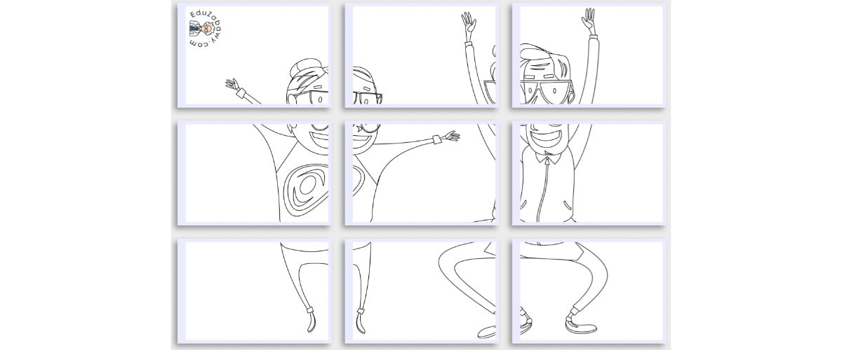 Kolorowanki XXL: Dziadkowie ekstremalni (8 szablonów)