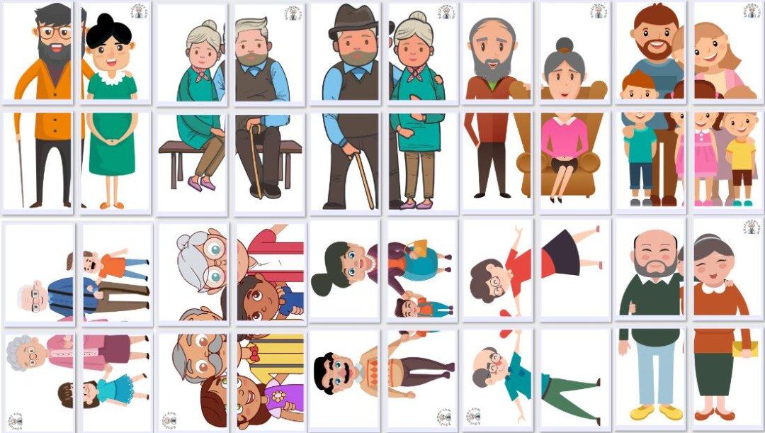 Dekoracje XXL: Babcia i Dziadek (10 szablonów) Dekoracje Dekoracje (Dzień Babci i Dziadka) Dzień Babci i Dziadka