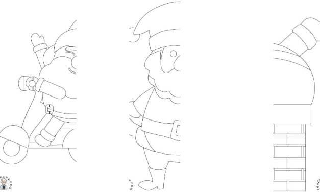 Boże Narodzenie: Dokończ obrazek (10 szablonów)