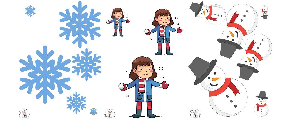 Zima: Uszereguj (10 kart pracy)