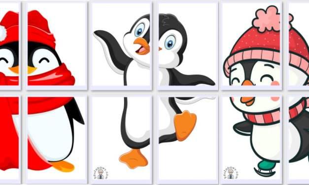 Dekoracje XXL: Pingwiny (10 szablonów)