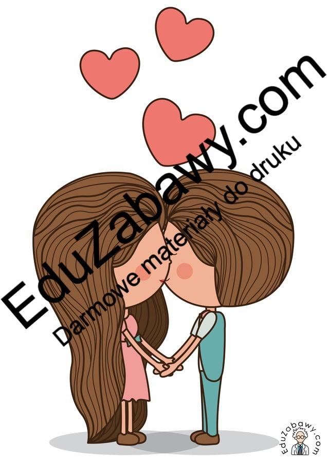 Dekoracje: Zakochana para (10 szablonów) Dekoracje Dekoracje (Walentynki) Walentynki