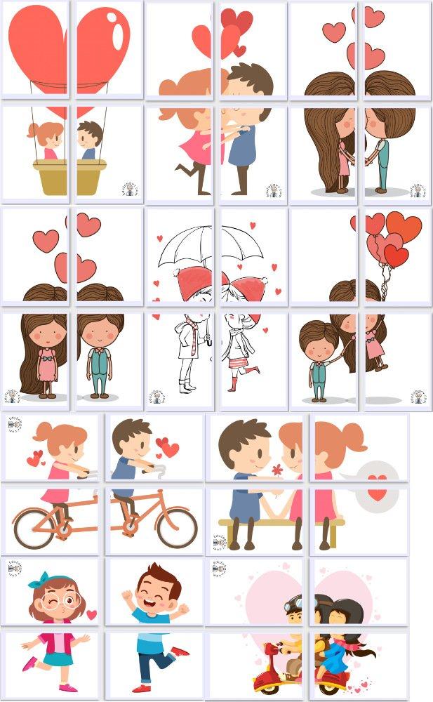 Dekoracje XXL: Zakochana para (10 szablonów) Dekoracje Dekoracje (Walentynki) Walentynki