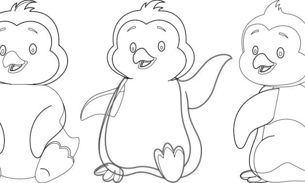 Kolorowanki: Pingwiny (10 szablonów)