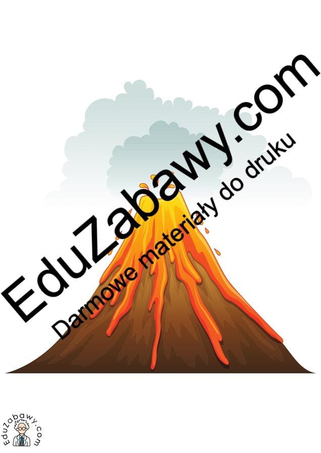 Dekoracje: Wulkan (10 szablonów) Dekoracje Dekoracje (Dzień Dinozaura) Dzień Dinozaura