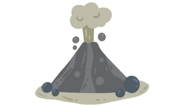 Dekoracje: Wulkan (10 szablonów)