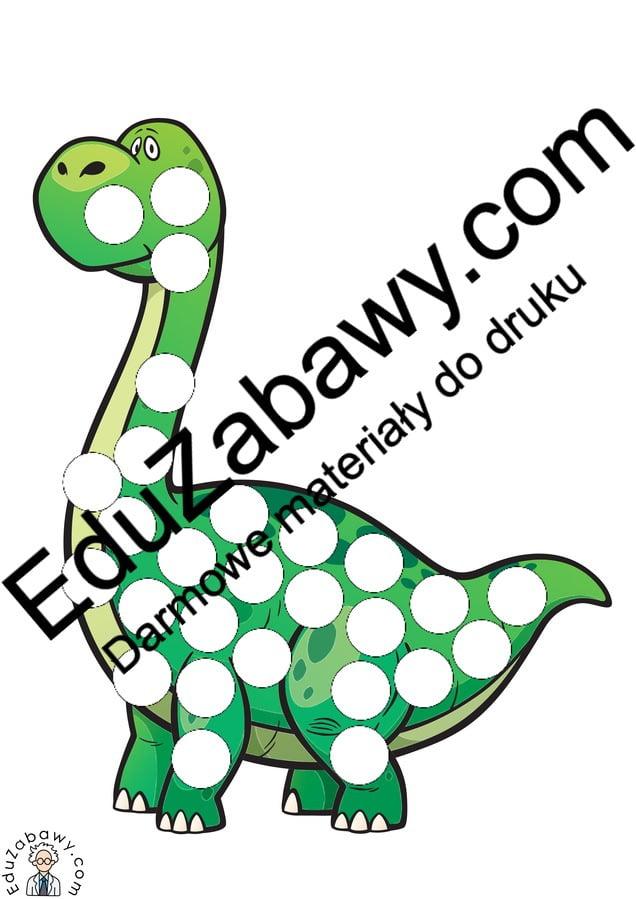 Dzień Dinozaura: Wypełnij kolorem (10 kart pracy) Dzień Dinozaura Karty pracy Karty pracy (Dzień Dinozaura) Wypełnij kolorem