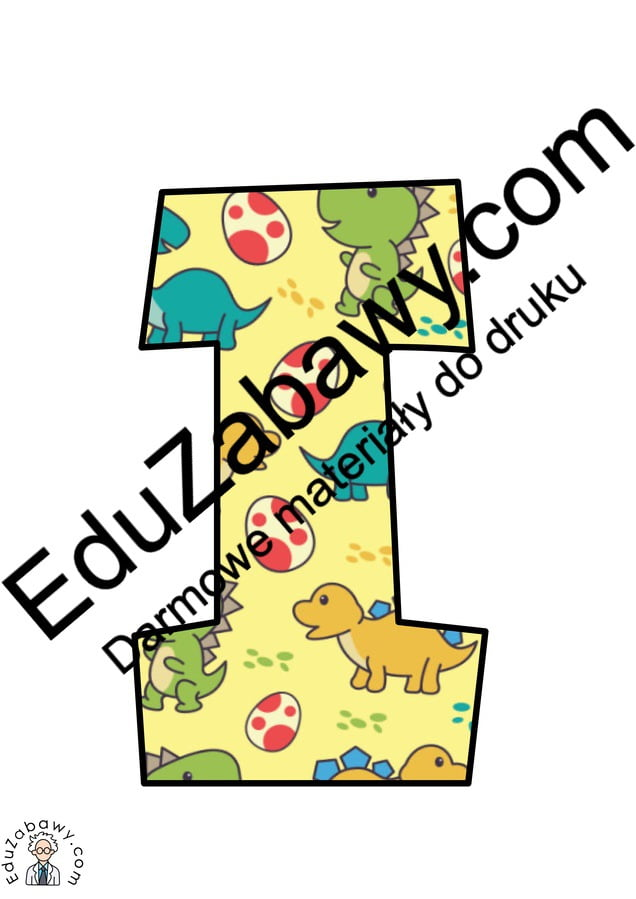 Napis Dzień Dinozaura - Kolorowy Dzień Dinozaura Napisy (Dzień Dinozaura)