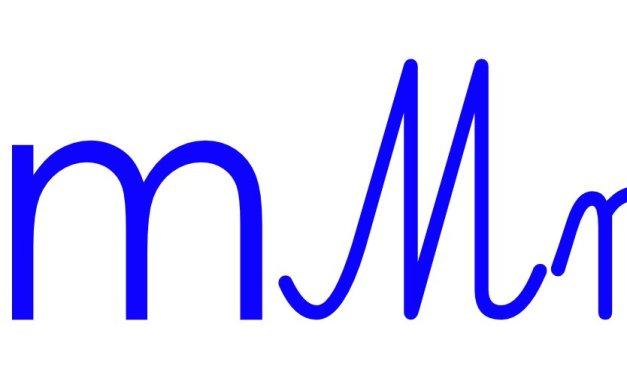Niebieska spółgłoska M do alfabetu szorstkiego