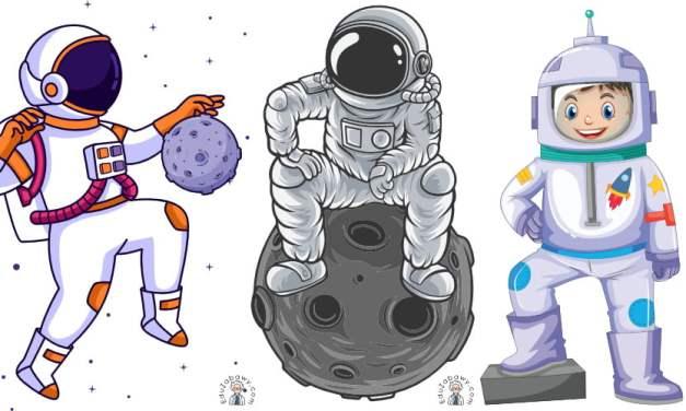 Dekoracje: Astronauta / kosmonauta (10 szablonów)