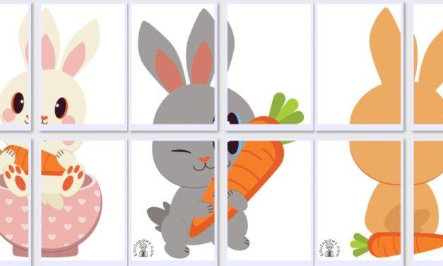 Dekoracje XXL: Królik z marchewką (10 szablonów)