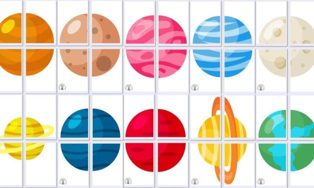 Dekoracje XXL: Planety (10 szablonów)