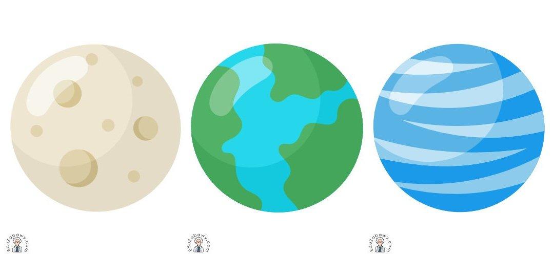 Dekoracje: Planety (10 szablonów)