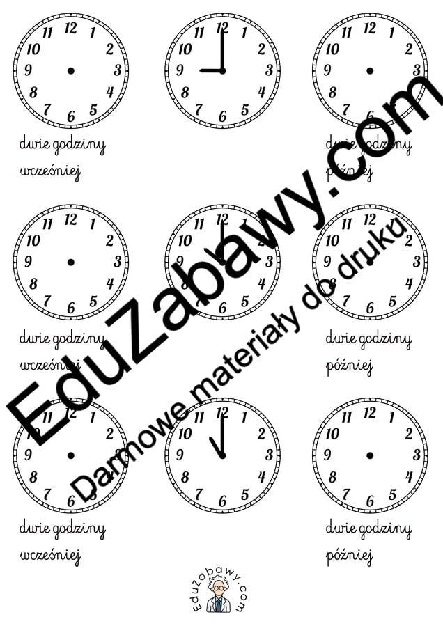 Nauka zegara - napisz godzinę wg instrukcji Dzień Matematyki Matematyka Nauka zegara
