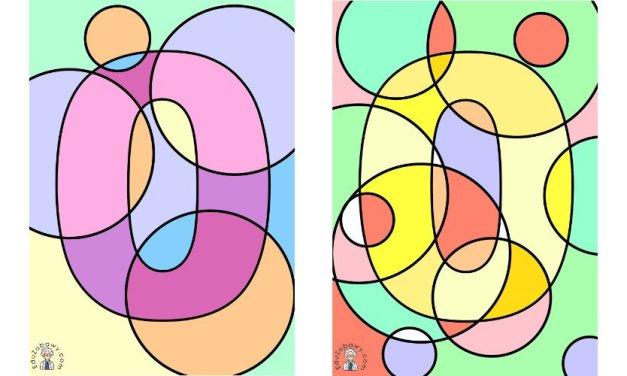 Ukryta cyfra 0 w rysunku do kolorowania